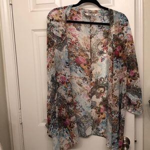 Kimono paisley and floral multi color